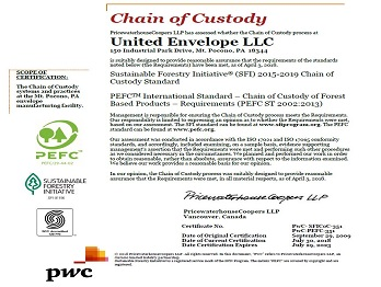 SUSTAINABLE FORESTRY INITIATIVE - PwC-SFICoC-351PROGRAMME FOR THE ENDORSEMENT OFFOREST CERTIFICATION - PwC-PEFC-351