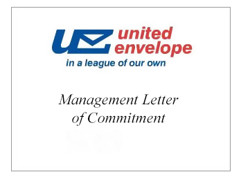 Management Letter of Commitment